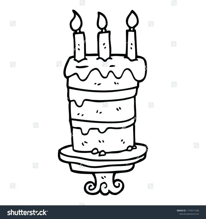 712x759 How To Draw Cake Step