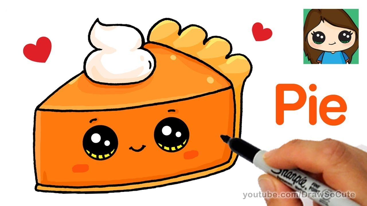1280x720 How To Draw A Slice Of Pie Cute And Easy