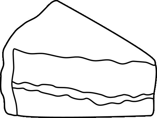 500x376 Cake Slice Png Freeuse Stock Black And White Huge Freebie