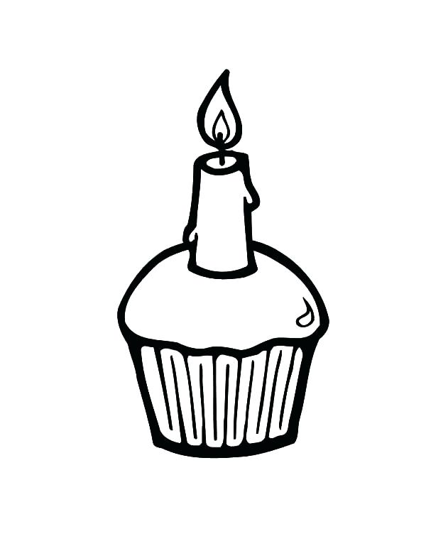 600x776 Simple Cake Drawing Simple Birthday Cake Coloring Pages Cute