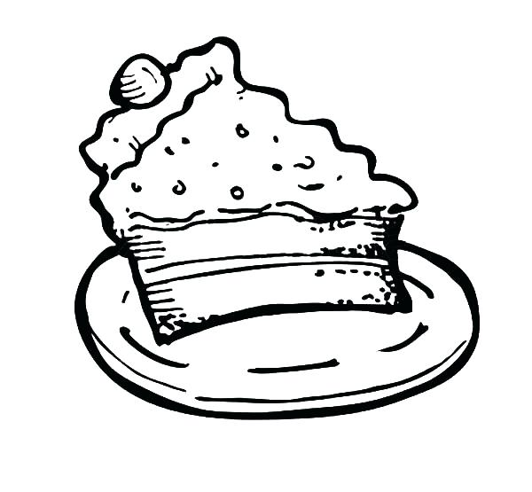 600x555 slice cake drawing at free for personal use slice cake slice
