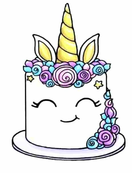 463x606 Cake Drawing