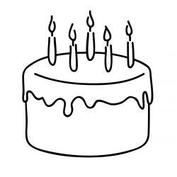 250x250 Anniversary Cake Drawing Slice Clipart Birthday Color Banana