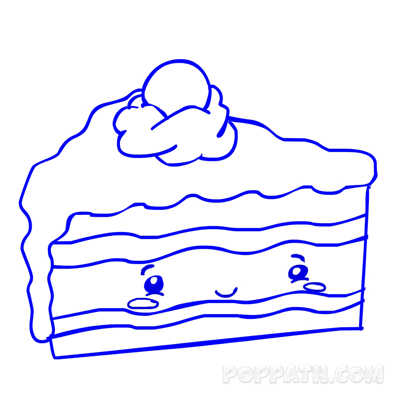 800x800 How To Draw A Cake Slice