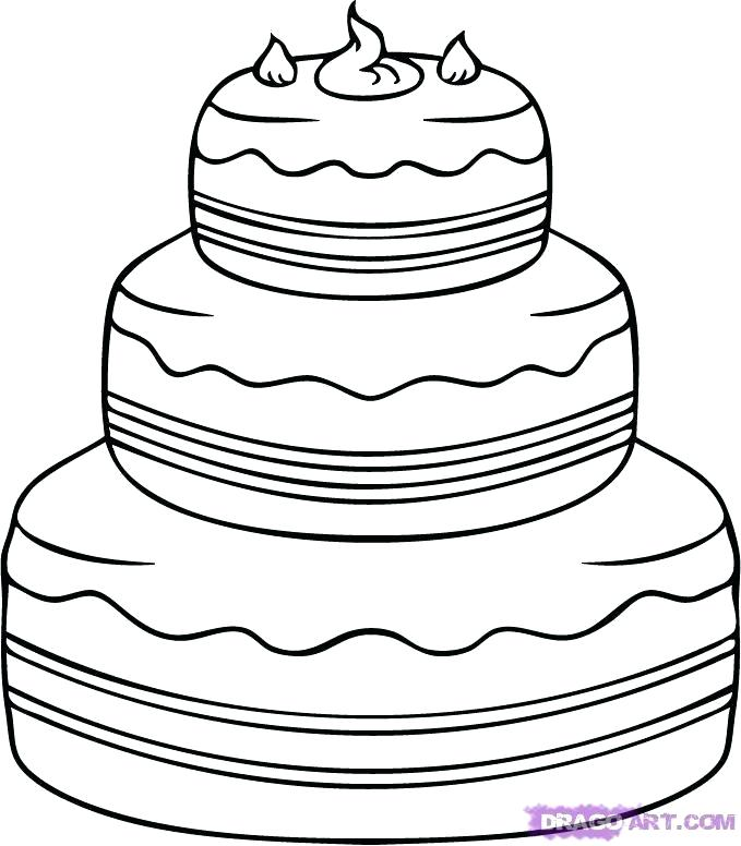679x776 Cake Draw Cake Drawing Slice