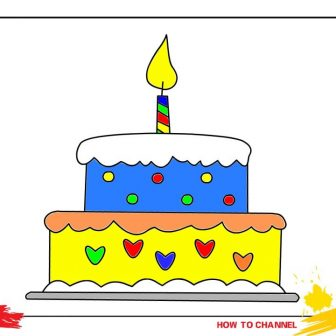 336x336 Cake Easy Drawing Slice A Step
