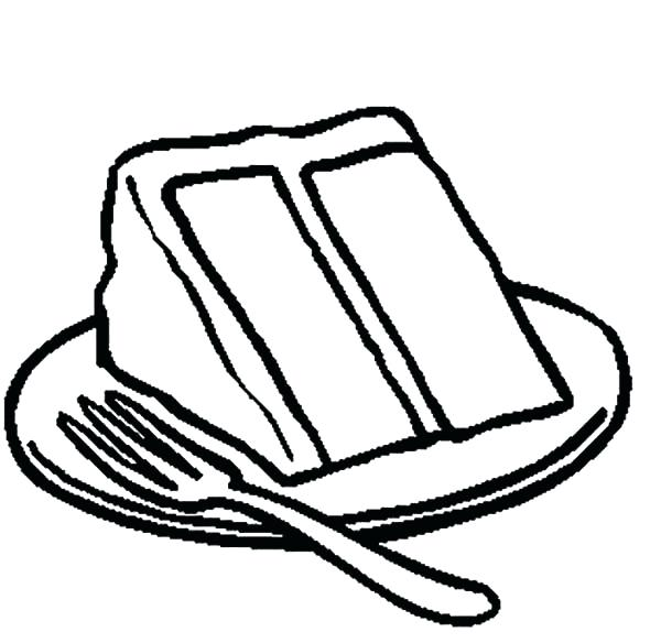600x584 Cake Pictures To Color Coloring Pages Of Cakes Color
