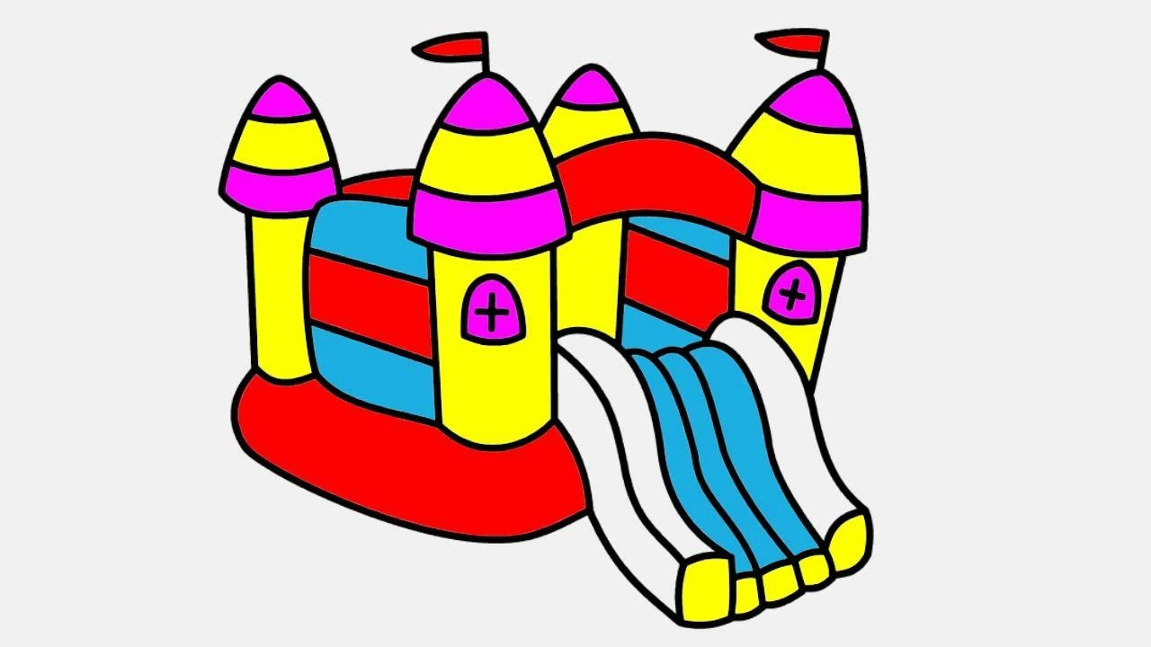 1280x720 How To Draw Slide Bouncer Playground Coloring