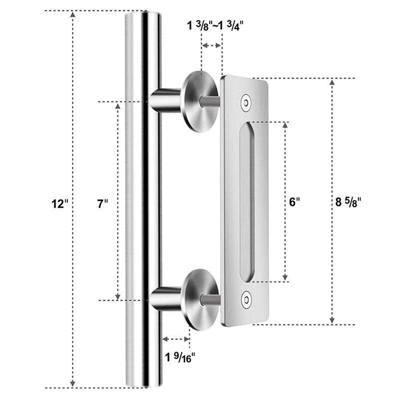 800x800 Gytb Stainless Steel Sliding Barn Door Pull Handle Wood Door
