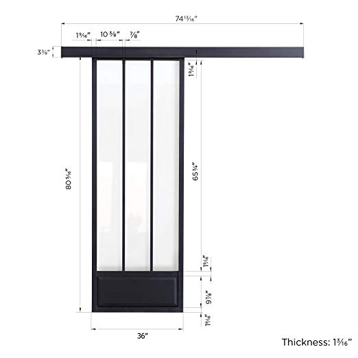 522x522 Maykke Pamplona Modern Aluminium Sliding Door With Tempered Glass
