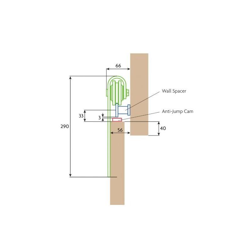 800x800 P C Henderson Rustic Sliding Door Gear