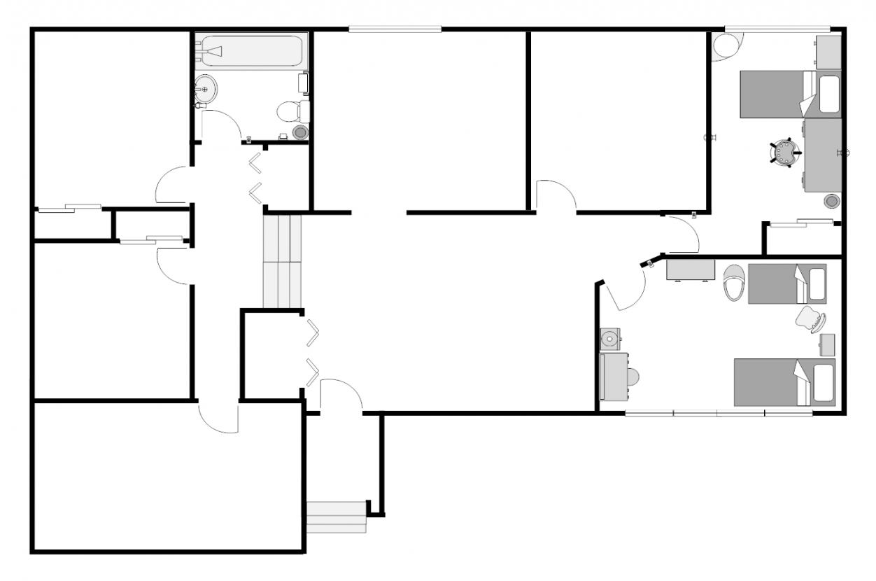 1252x830 Sliding Door Plan
