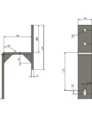 300x387 Wall Mount Bracket For Barn Door Flat Bar Tracks