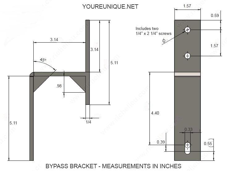 735x554 Wall Mount Sliding Barn Door Bypass Bracket Stainless Steel