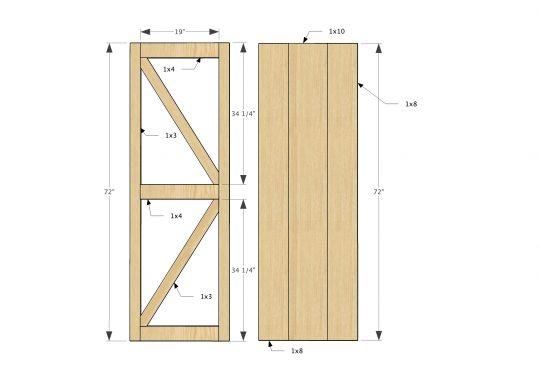 540x381 Sliding Barn Door Tv Cover Diy Doors Ideas
