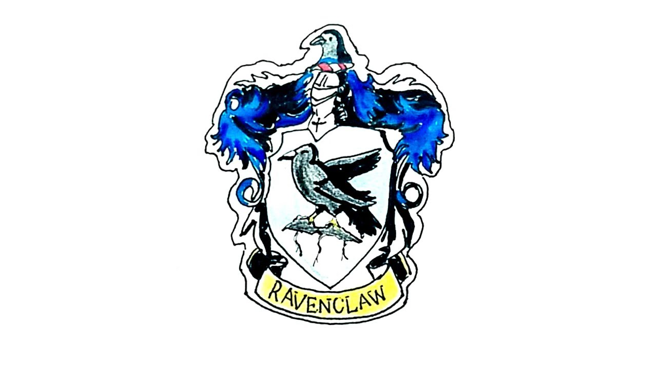 1280x720 How To Draw The Ravenclaw Crest From Harry Potter