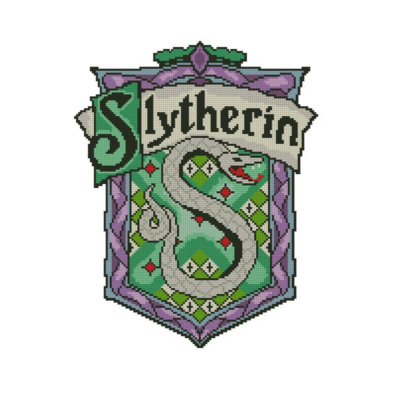 794x791 Slytherin Crest Cross Stitch Pattern Pdf Instant Download Etsy