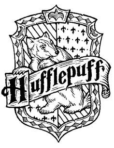 236x305 Harry Potter Hogwarts House Crests Black And White