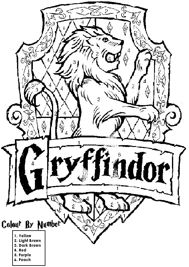 633x894 Harry Potter House Crest Coloring Pages Education Harry Potter