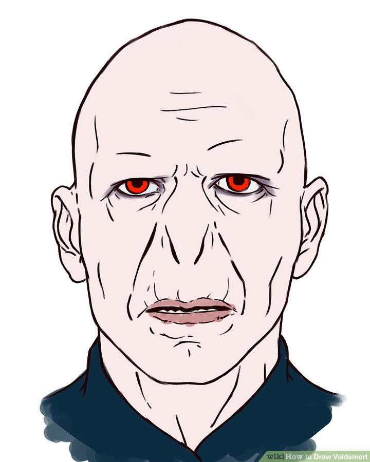 720x900 How To Draw Voldemort Steps