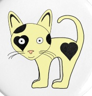 190x199 Cat Drawing Small Buttons Spreadshirt