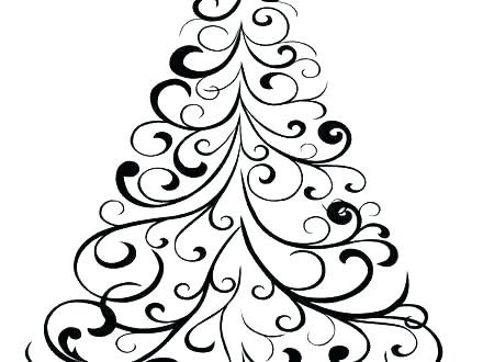 image about Printable Christmas Tree Pictures referred to as Minor Xmas Tree Drawing Absolutely free down load least complicated Very low