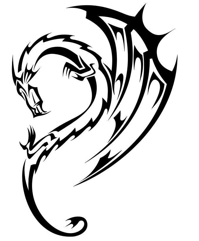 677x820 dragon vinyl decal dragon tribal dragon tattoos, dragon