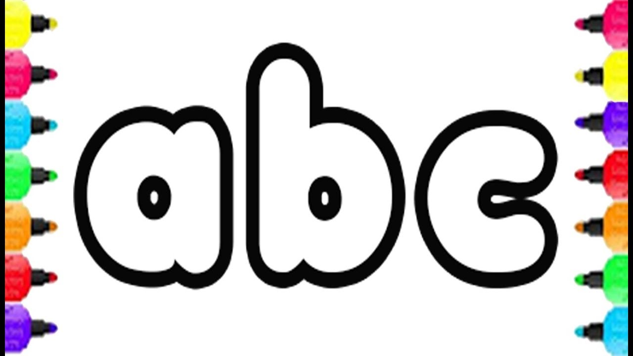 1280x720 abc alphabet coloring pages drawing small letter abc and coloring