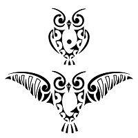 200x200 small owl tattoo owl owl tattoo design, tribal owl tattoos
