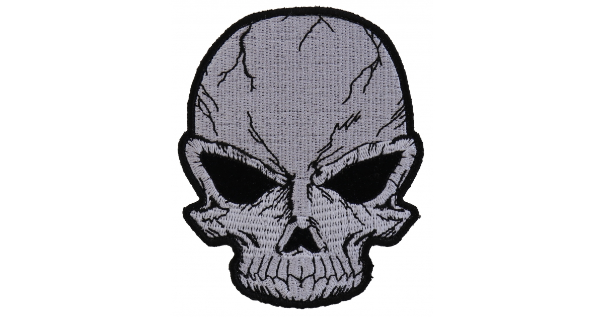1200x630 small cracked skull patch grey skull patches thecheapplace