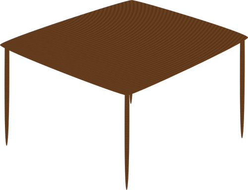 500x383 Small Table Vector Drawing