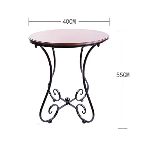 500x500 Hongyan Solid Wood Small Round Table, European