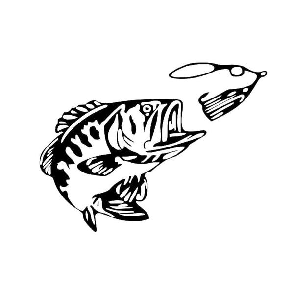 600x600 bass drawing bass fisherman for free download