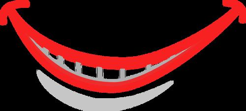 Smiling Lips Drawing