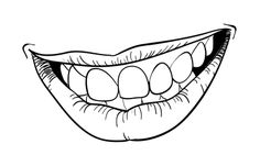 Smiling Mouth Drawing