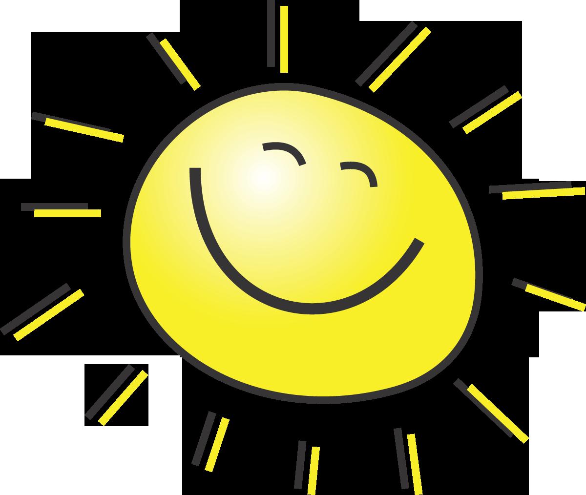 Smiling Sun Drawing