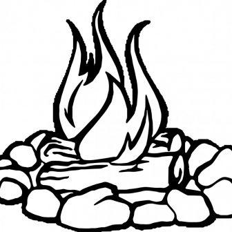 336x336 Campfire Tumblr Little Drawing Cartoon Smoke Easy Vector Carmi