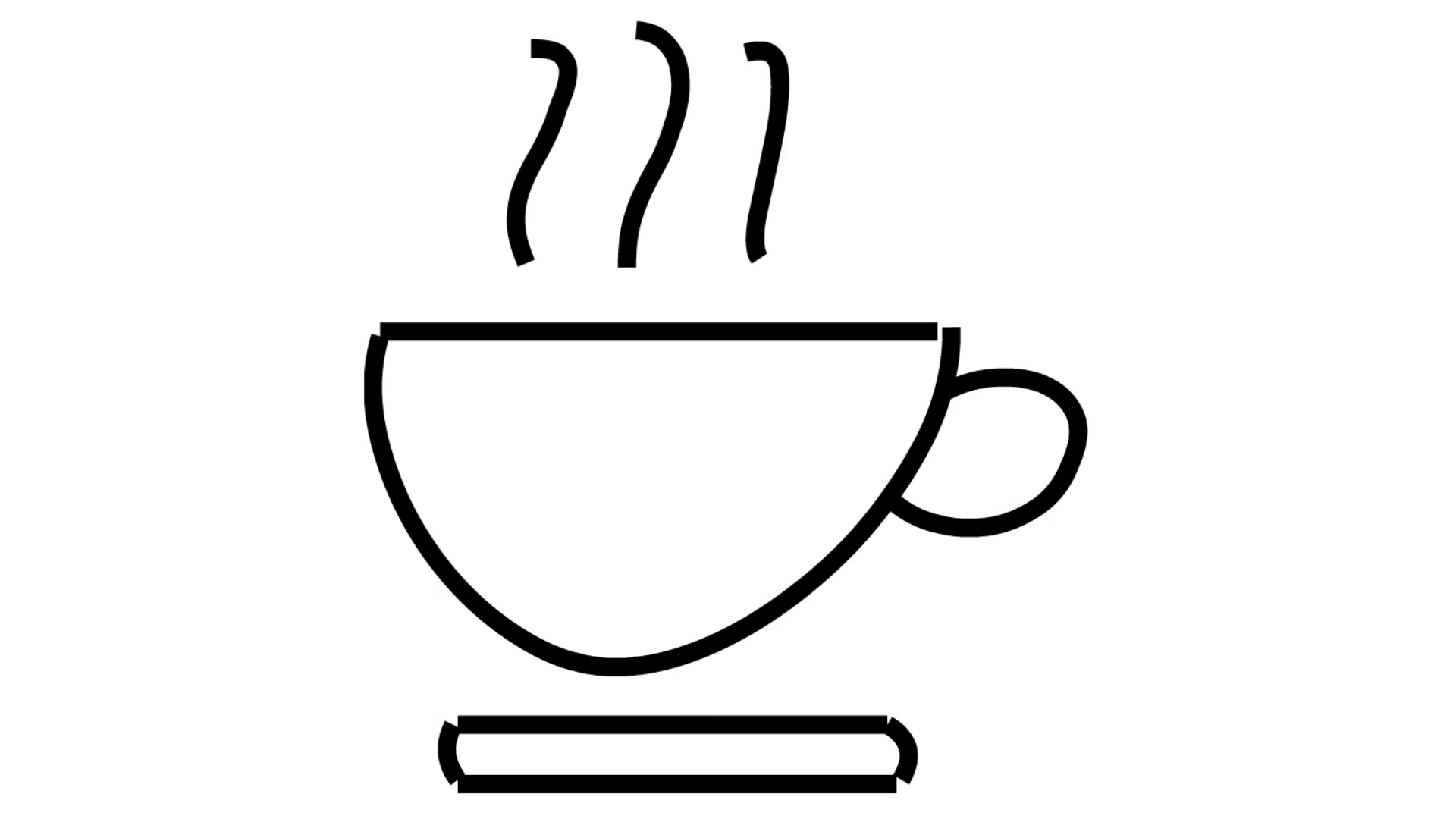 1920x1080 Coffee Tea Cup With Smoke Line Drawing Illustration Animation