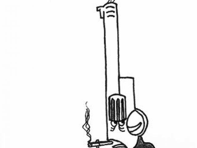 640x480 Drawn Gun Smoke Drawing