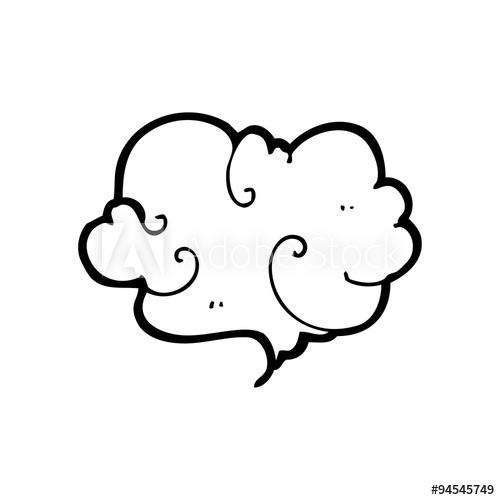 500x500 Line Drawing Cartoon Cloud Of Smoke