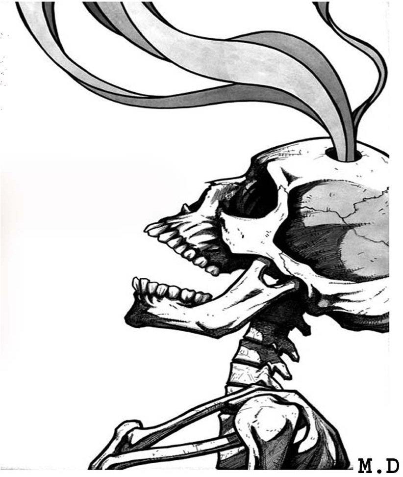 822x972 Smoke Drawing Skeleton For Free Download