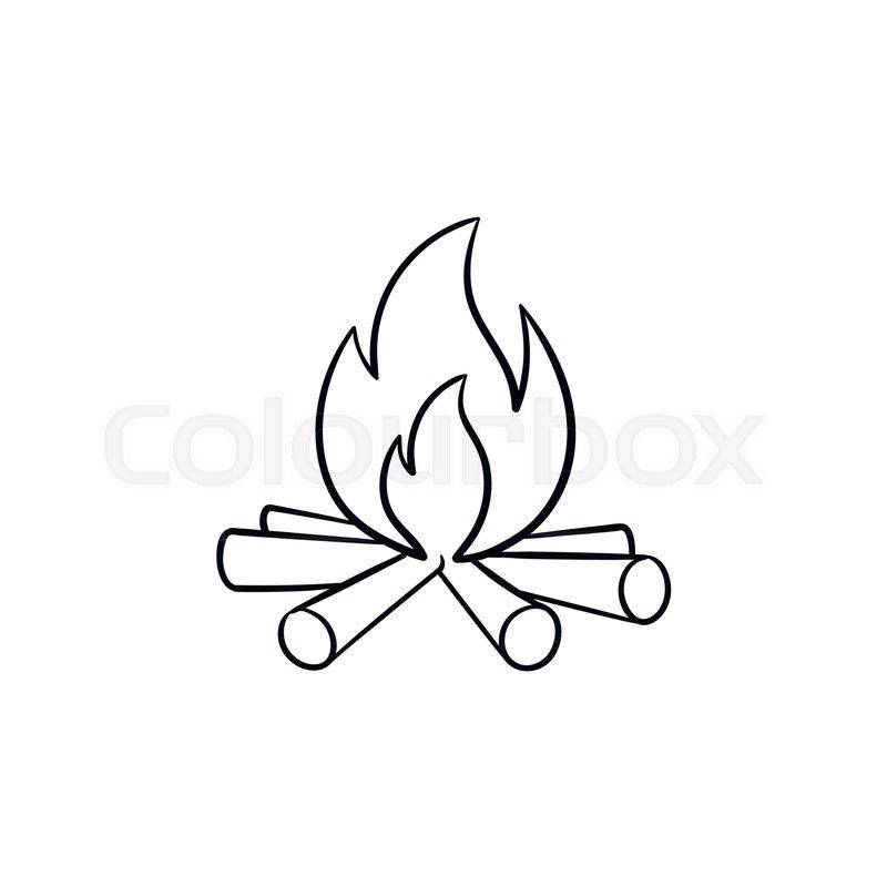 800x800 Campfire Smoke Drawing