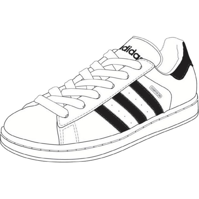 800x800 Sneakers Drawing Shoe Adidas For Free Download