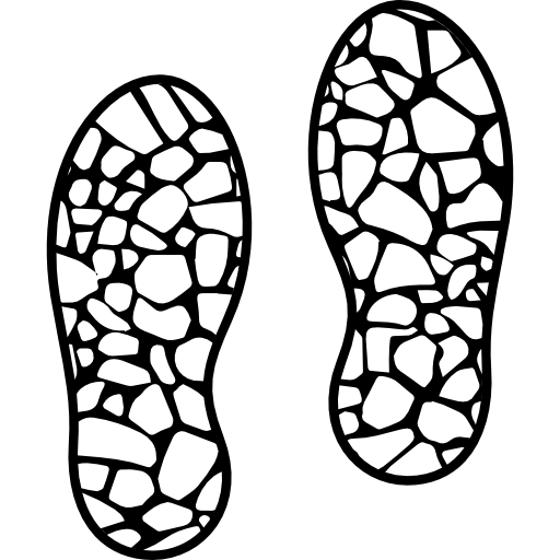 512x512 Footsteps Drawing Sneaker Transparent Png Clipart Free Download