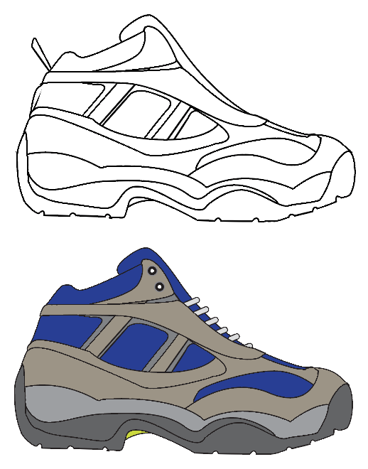 518x660 How To Draw Shoes