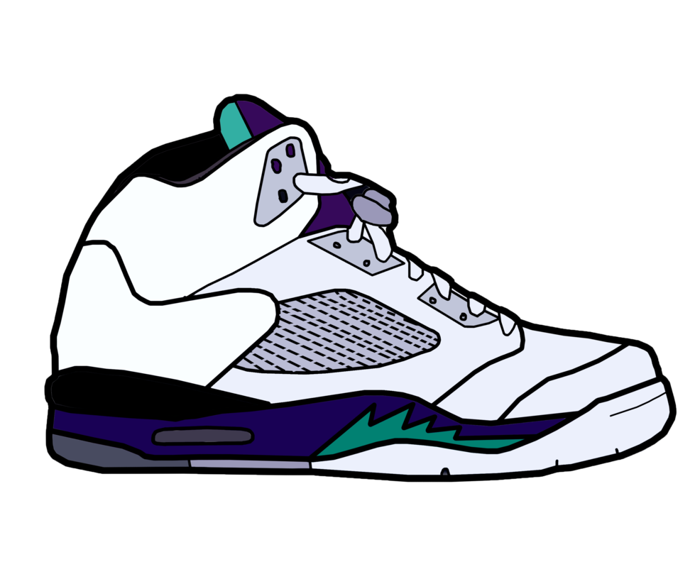 979x816 Drawing Sneakers Jordan Huge Freebie! Download