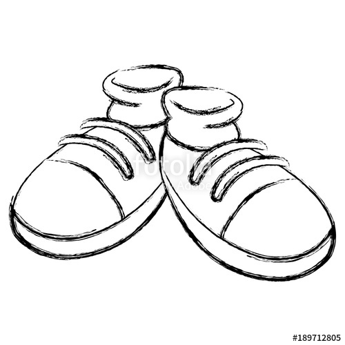 500x500 Huge Collection Of 'cartoon Shoe Drawing' Download More Than