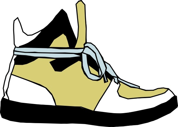 600x431 Shoes Sneaker Clip Art Free Vector In Open Office Drawing
