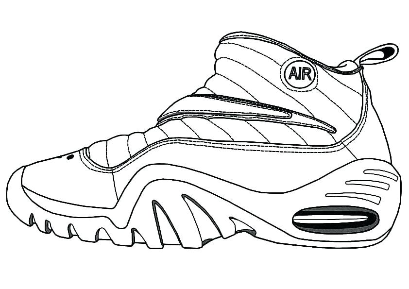 842x595 Basketball Shoe Coloring