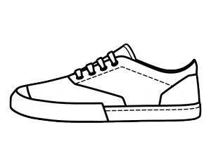 300x225 Collection Of Free Sneaker Drawing Trainer Download On Ui Ex